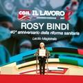Congresso Cgil a Bari, Rosy Bindi: «Salute diritto da assicurare con risorse della comunità»