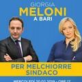 Primarie centrodestra, Giorgia Meloni a Bari per sostenere Melchiorre