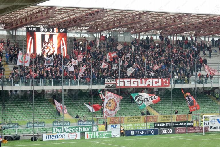 Settore ospiti di Cesena. <span>Foto SportPeople.com</span>