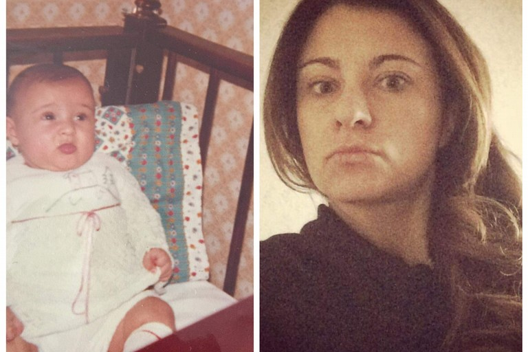 Laura da piccola e oggi