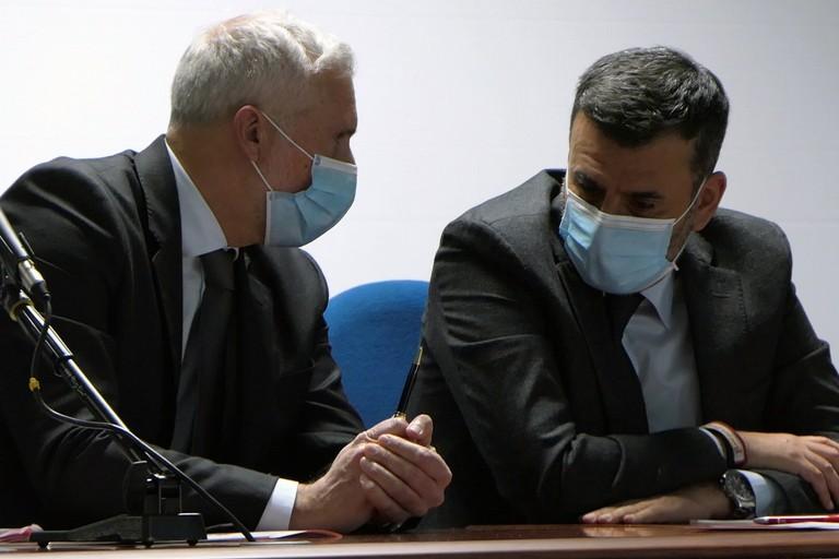 Paolo Pate, presidente Consorzio ASI e Antonio Decaro, sindaco di Bari