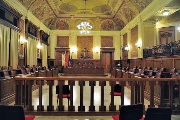 La sala del Consiglio Comunale di Bari
