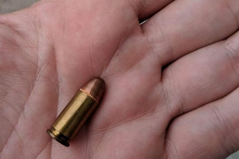 Il proiettile trovato da Pinuccio