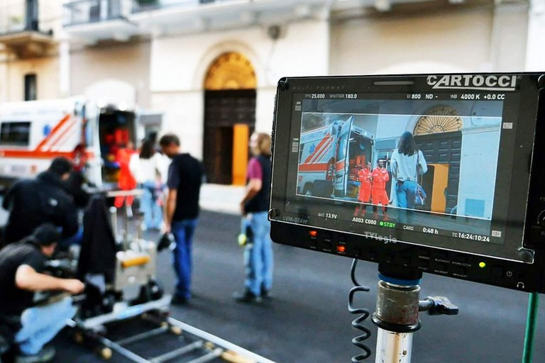 Il set cinematografico. <span>Foto Apulia Film Commission (pagina Fb)</span>