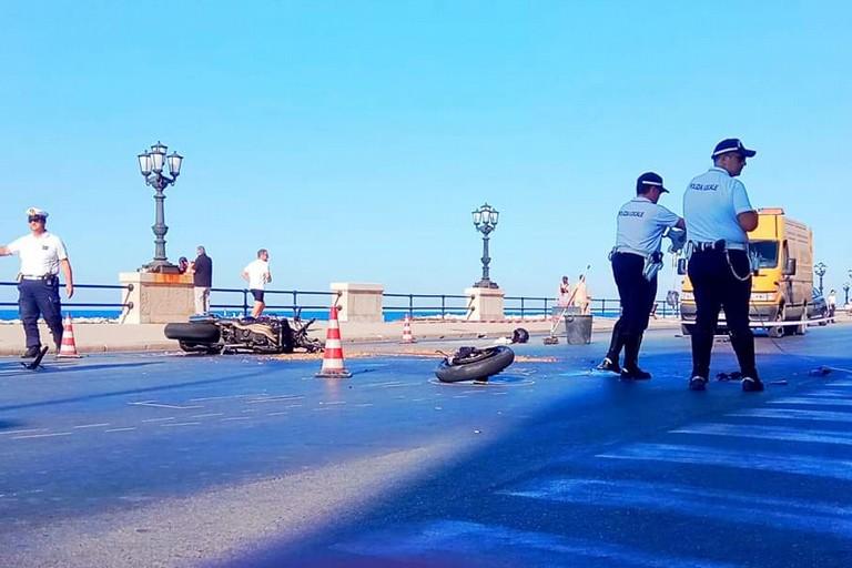 L'incidente. <span>Foto Pagina Facebook Rione Maddonnella</span>