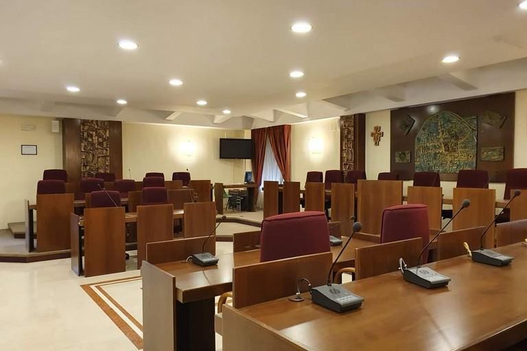 L'aula del consiglio di Valenzano