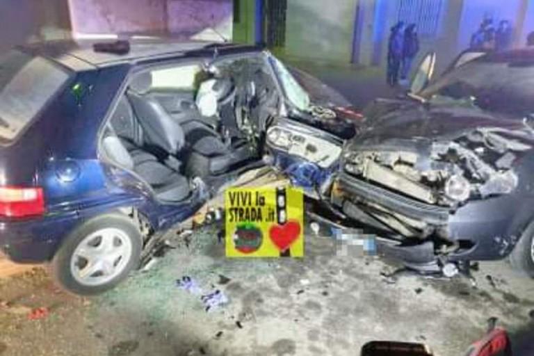L'incidente a Turi. <span>Foto Pagina Facebook ViviLaStrada</span>