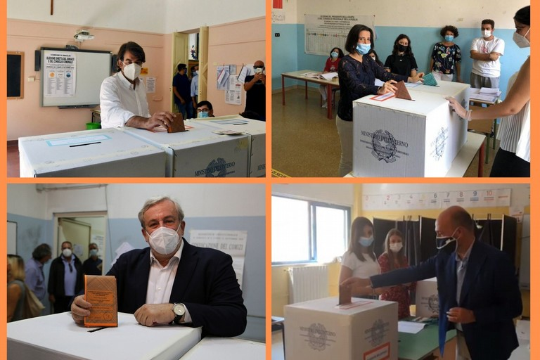 I candidati presidente al voto