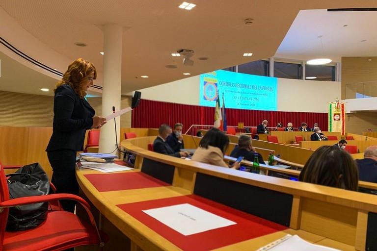 Il consiglio regionale in Puglia