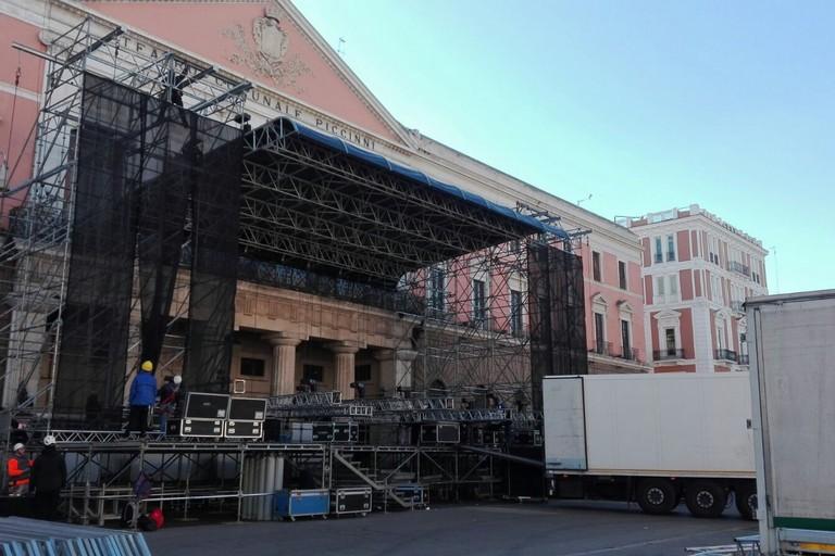 Il palco di Capodanno a Bari