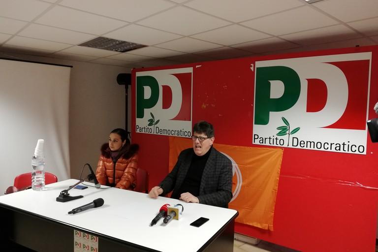 Conferenza stampa primarie Pd