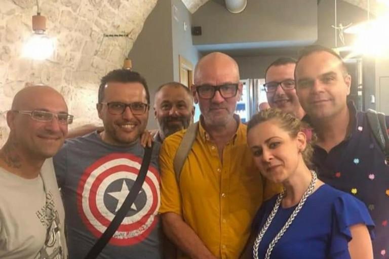 Michael Stipe a Castellana. <span>Foto Facebook</span>