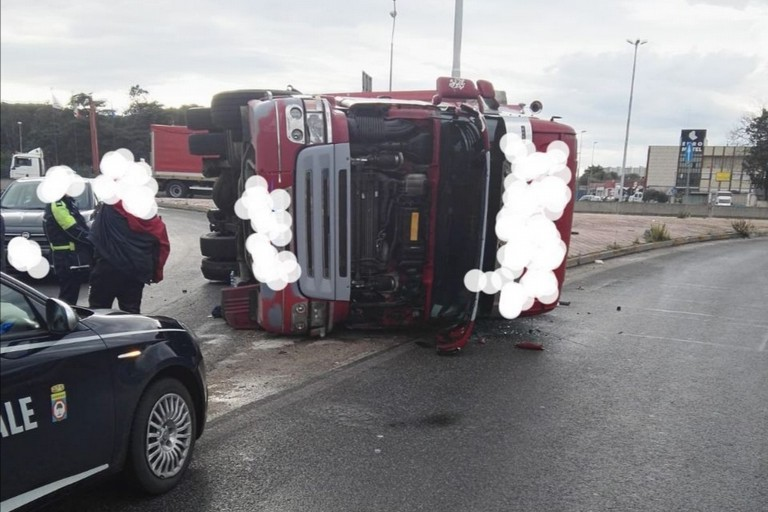 Incidente camion tangenziale