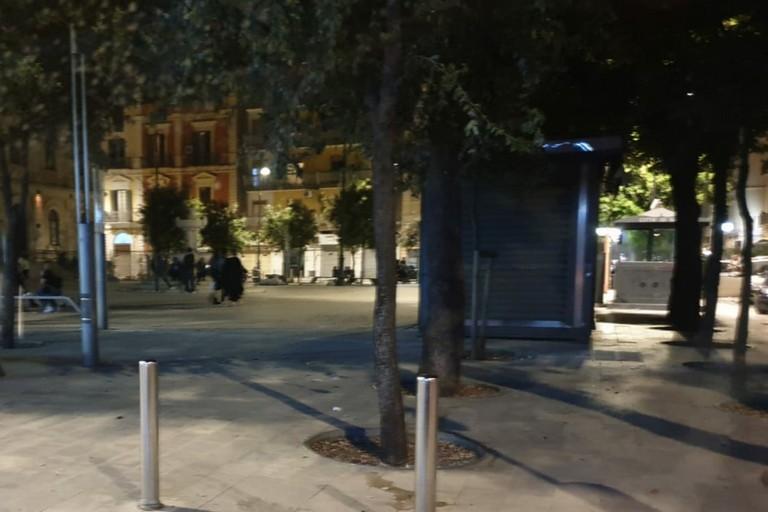 Piazza Risorgimento a fine serata