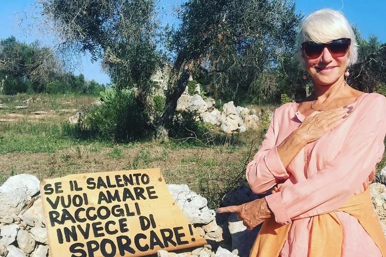 Helen Mirren in Salento