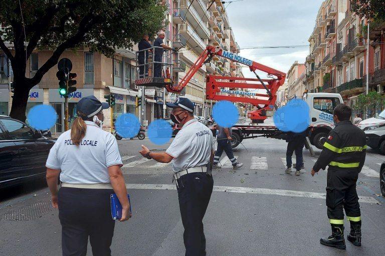 Traffico chiuso corso Cavour