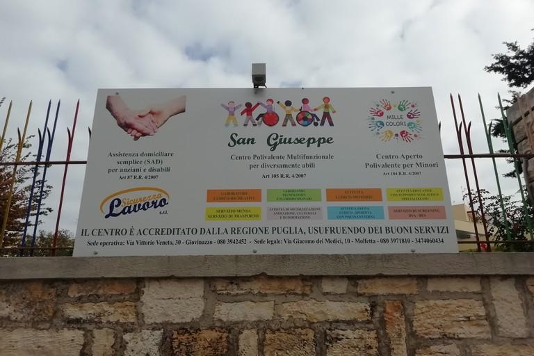 La sede del centro sociale per diversamente abili San Giuseppe