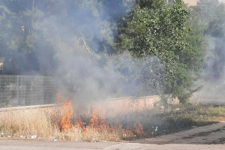 Uno degli incendi