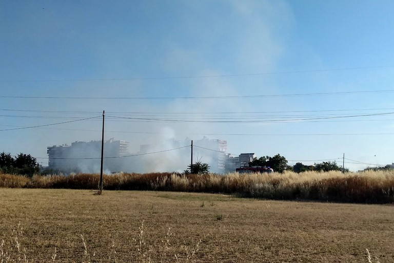 L'incendio a Japigia