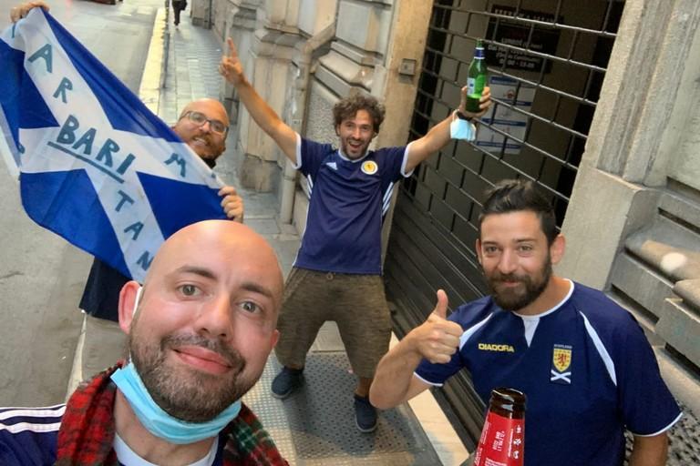 Jake Barnes e la Tartan Army Bari insieme per tifare Scozia