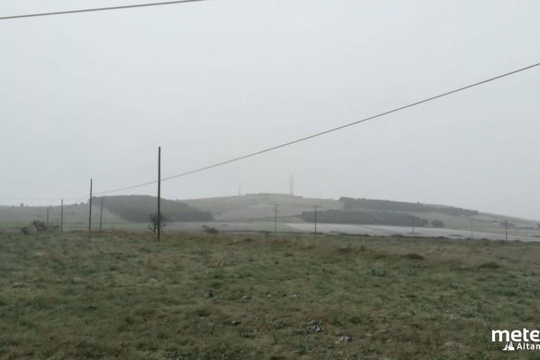 Neve sull'alta murgia. <span>Foto Dalla pagina Facebook MeteOne Altamura </span>