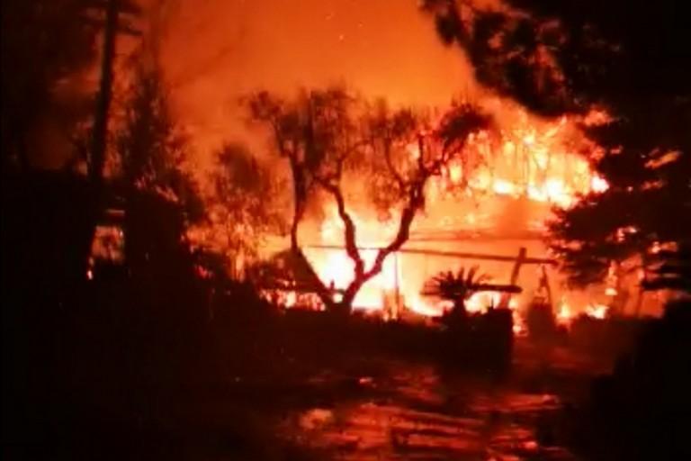 Bitritto, incendio nel ristorante Ranch. Locale distrutto dalle fiamme
