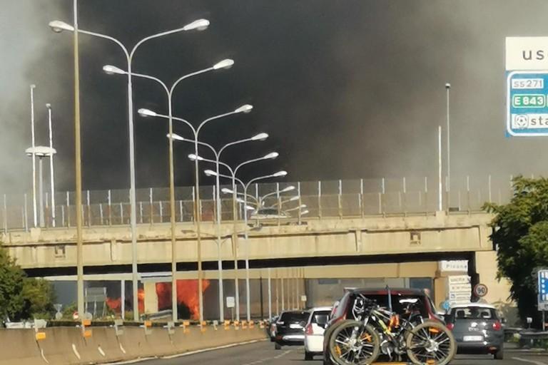 Incendio statale bari