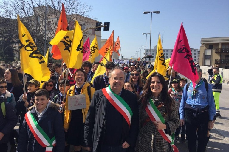 Lassessora Romano alla marcia di Libera nella giornata della memoria