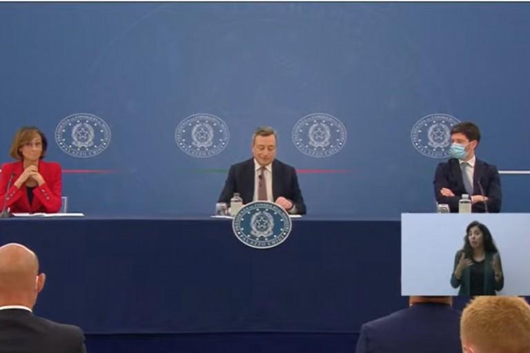 la conferenza stampa di Draghi