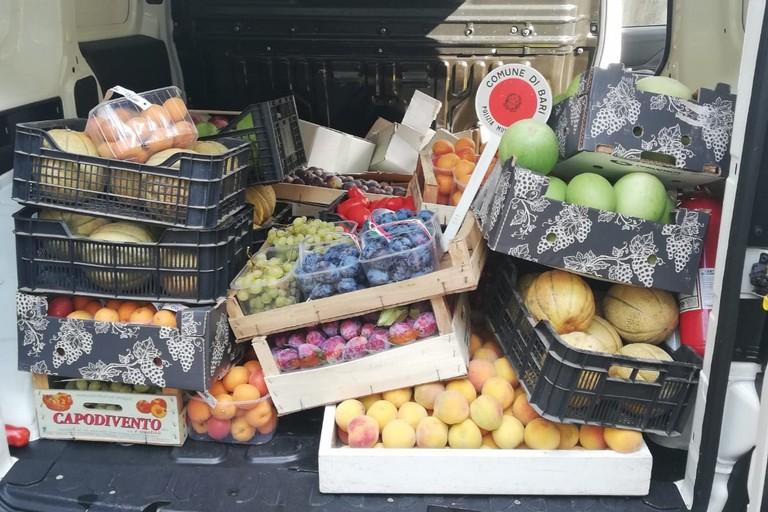 La frutta sequestrata