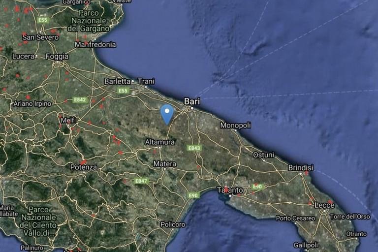 La mappa dei roghi attivi in Puglia
