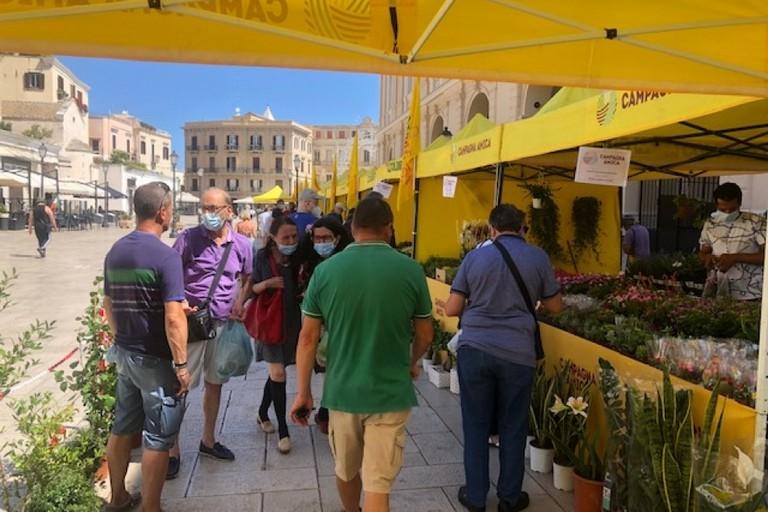 La spesa sospesa al mercato di Campagna Amica di Piazza del Ferrarese a Bari
