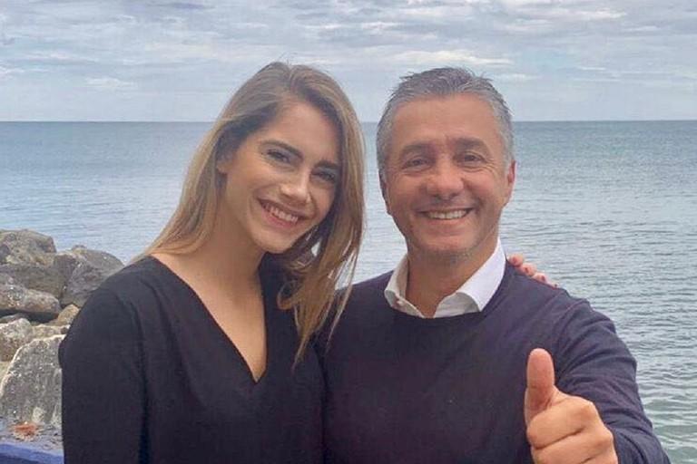 Laura Manginelli con Davide Bellomo