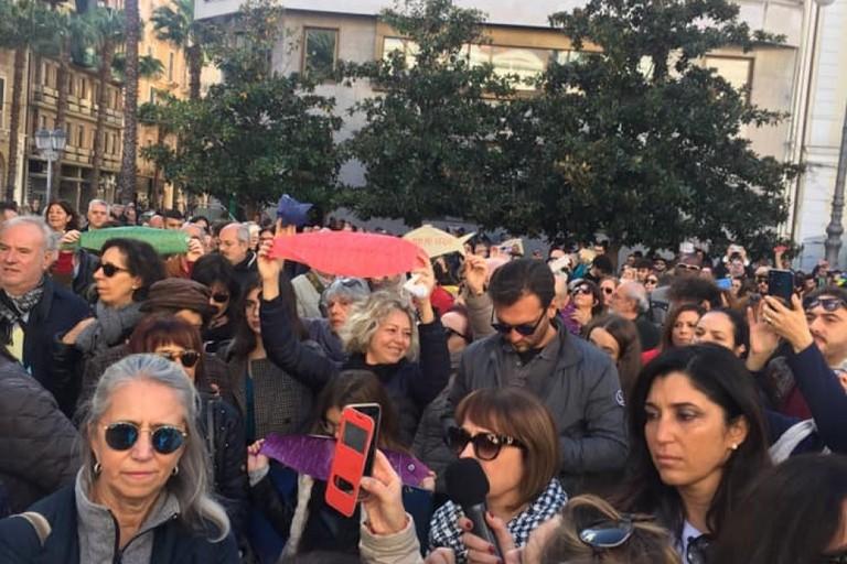 Le Sardine a Taranto. <span>Foto Facebook Leonardo Palmisano</span>