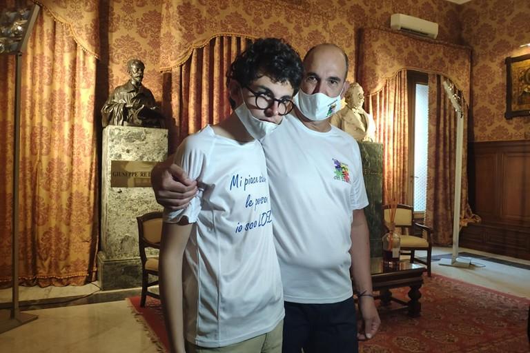 Lorenzo con il padre