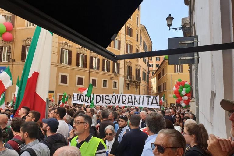 manifestazione centrodestra a roma