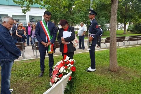 La cerimonia di commemorazione per Gaetano Marchitelli