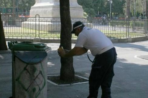 Polizia locale in piazza Umberto
