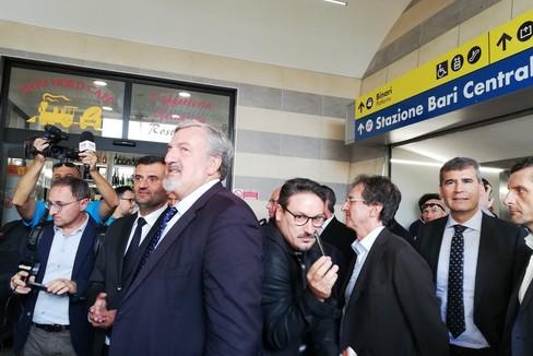 L'inaugurazione del nuovo sottopassaggio di Bari centrale