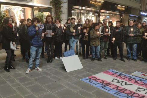 Il Transgender Day of Remembrance in via Sparano