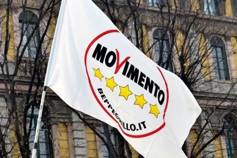 La bandiera del Movimento Stelle