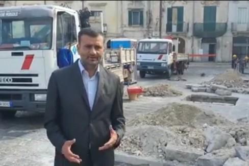 Iniziano i lavori in piazza San Pietro per gli arredi urbani