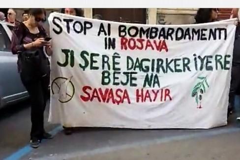 La manifestazione per il popolo curdo