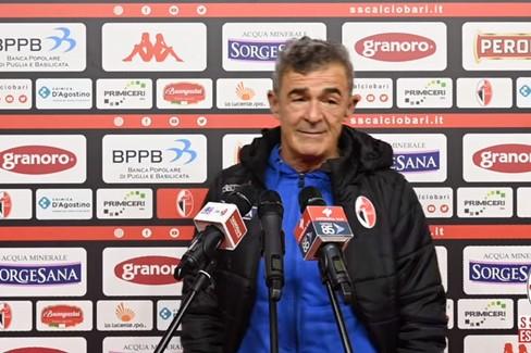 """Bari-Vibonese 0-0, Auteri:  """"Partita disgraziata. Niente vittimismo, ora pedalare """""""