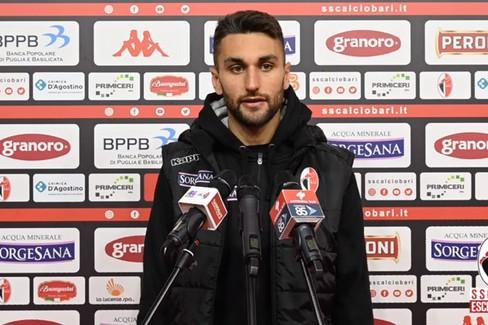 """Bari-Vibonese 0-0, Maita:  """"È mancato il goal, c'è rabbia """""""