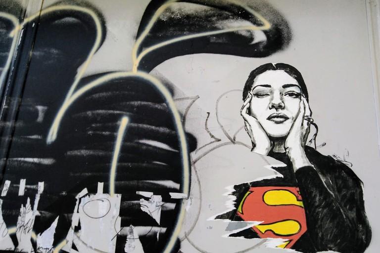 murale maria callas vandalizzato