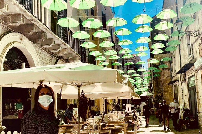 ombrelli verdi bari vecchia