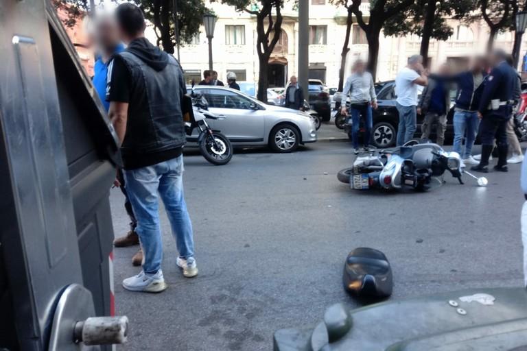 L'incidente in corso Cavour