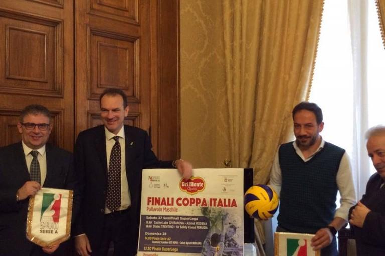 presentazione final four coppa italia volley bari