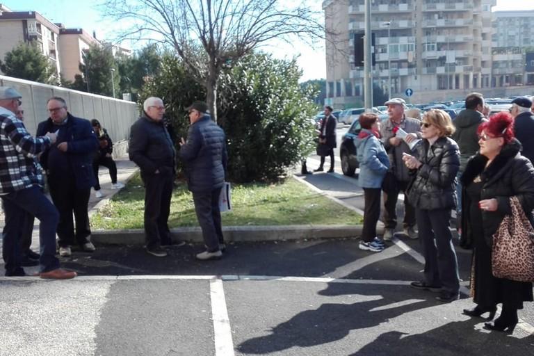 protesta correntisti popolare di bari. <span>Foto Comitato indipendente azionisti della Banca popolare di Bari</span>